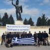 Στο άγαλμα του Λεωνίδα στις Θερμοπύλες οι αλογατάρηδες της Κρήτης