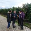 Ο Σταύρος Αραχωβίτης στις πληγείσες από χαλάζι περιοχές του Δήμου Ευρώτα