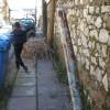 Περπάτημα με εμπόδια στα πεζοδρόμια της Σπάρτης
