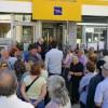 Διαμαρτυρίες για το κλείσιμο της τράπεζας στις Κροκεές – Βίντεο