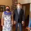 Η Υπουργός Πολιτισμού Λίνα Μενδώνη στο σπίτι του Γιάννη Ρίτσου