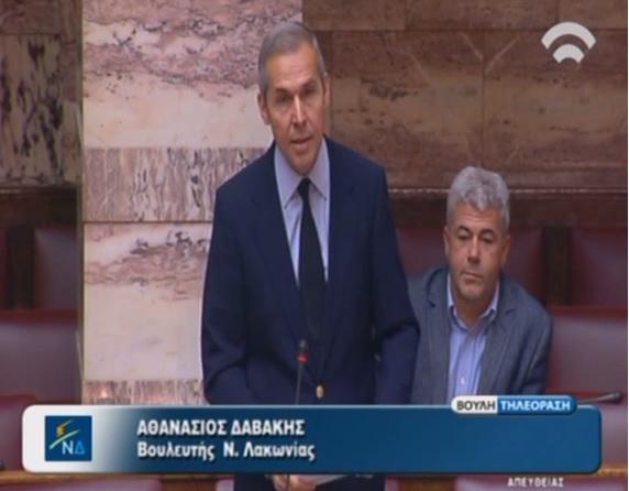 Ομιλία Δαβάκη στην Βουλή για τα κόκκινα δάνεια