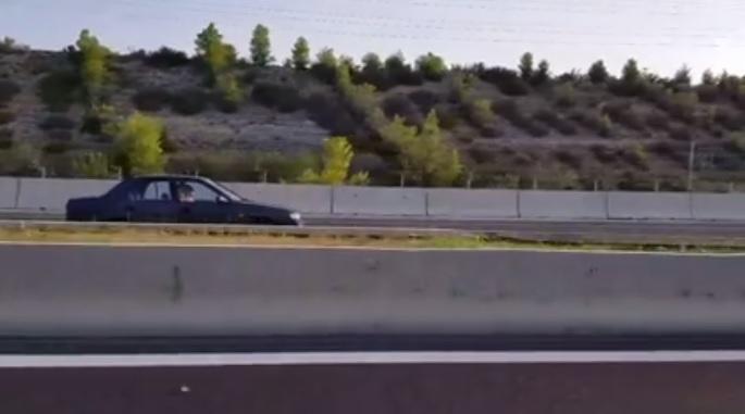Βίντεο Σοκ… Αυτοκίνητο στο αντίθετο ρεύμα στην Εθνική οδό Αθηνών – Τριπόλεως