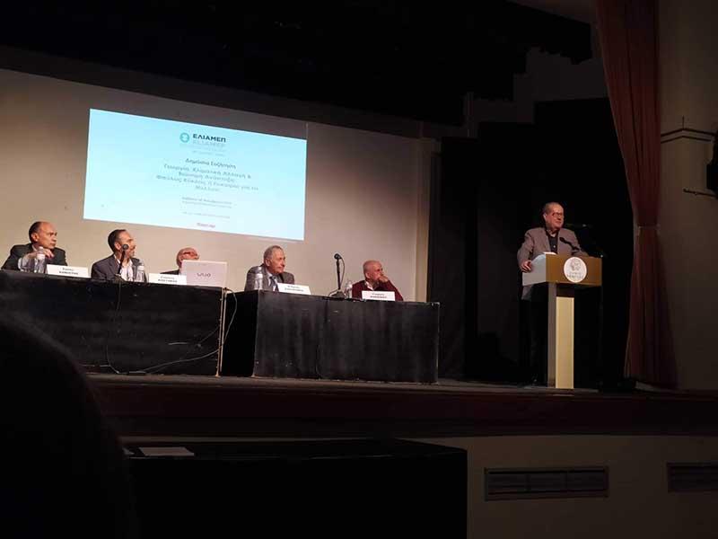 Ο Π. Νίκας σε εκδήλωση του ΕΛΙΑΜΕΠ στη Σπάρτη για την γεωργία, την κλιματική αλλαγή και τη βιώσιμη ανάπτυξη