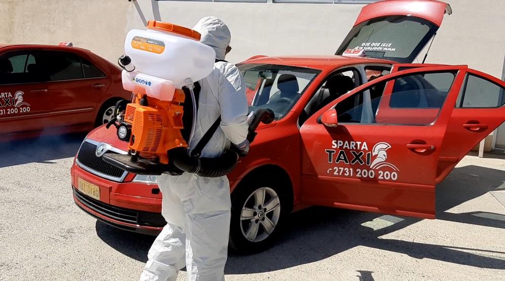 Προληπτική Απολύμανση σε οχήματα της Sparta Taxi 2731 200 200