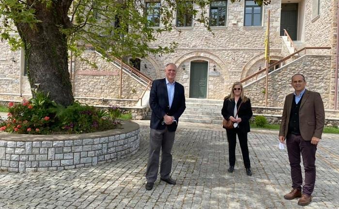 Επίσκεψη του Δήμαρχου Σπάρτης στο Ινστιτούτο Μελετών Βυζαντινού Πολιτισμού